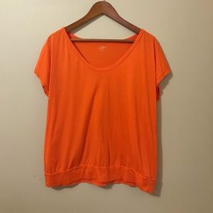Loft XL Orange shortsleeved cotton shirt